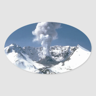 Mount St. Helens, Volcano Oval Sticker