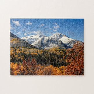 Mount Timpanogos in Autumn Utah Mountains Jigsaw Puzzle