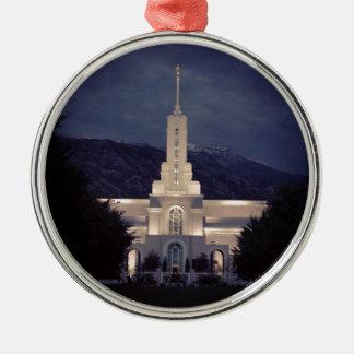 Mount Timpanogos LDS Temple, American Fork, Utah Metal Ornament