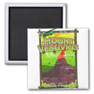 Mount Vesuvius Italian cartoon volcano Magnet