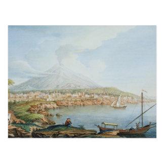 Mount Vesuvius, plate 36 from 'Campi Phlegraei: Ob Postcard