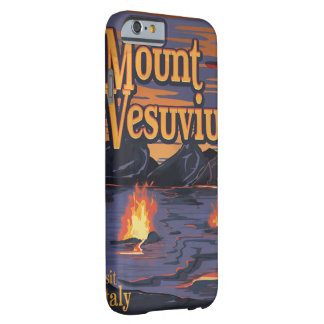 Mount Vesuvius volcano travel poster Barely There iPhone 6 Case