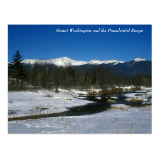 Mount Washington and Presidential Range in Winter Postcard