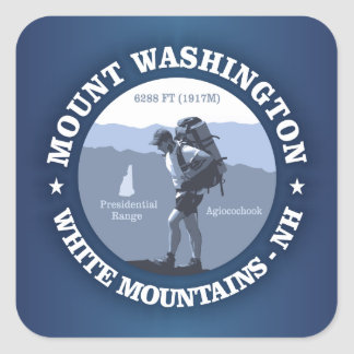 Mount Washington Square Sticker