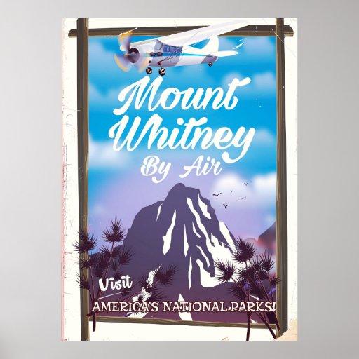 Mount Whitney, Classic California Travel poster