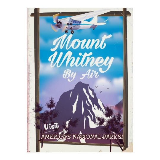 Mount Whitney, Classic California Travel poster