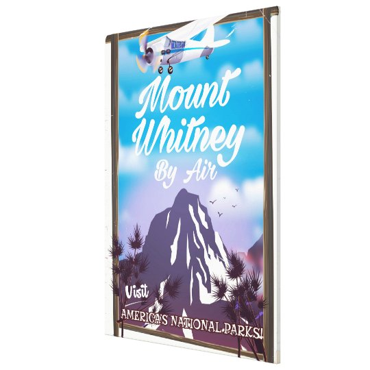 Mount Whitney, Classic California Travel poster Canvas Print