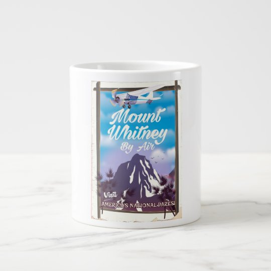 Mount Whitney, Classic California Travel poster Large Coffee Mug