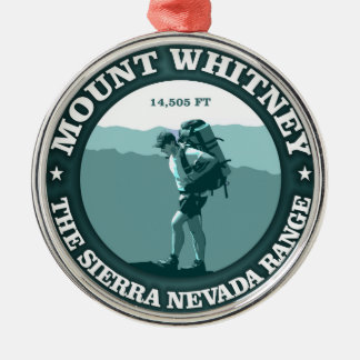 Mount Whitney Metal Ornament