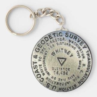 Mount Whitney Summit Benchmark Keychain