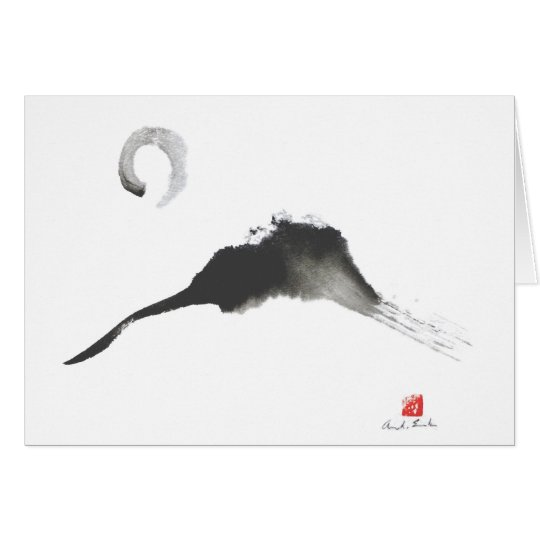 Mountain, a Sumi-e Card