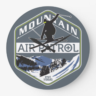 Mountain Air Patrol Large Clock
