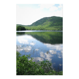 Mountain and Clouds Reflect on Rockland Watershed Stationery