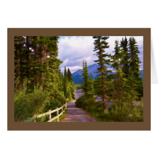 Mountain and Trees Blank Greeting Card