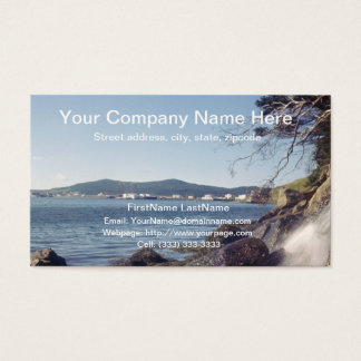 Mountain and Waterfall Professional Business Card
