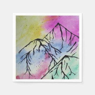 Mountain art napkins paper napkins