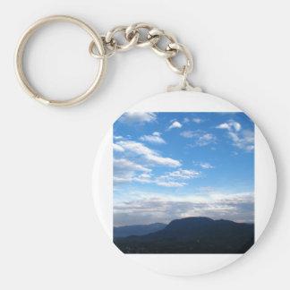 Mountain Basic Round Button Keychain