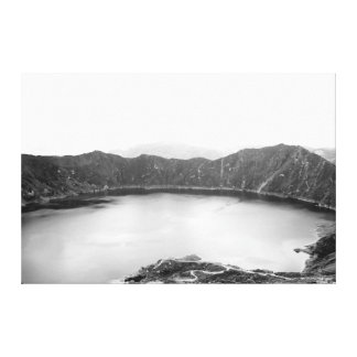 Mountain Beauty Black and White Canvas Print