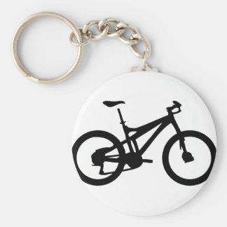 Mountain Bike bicylce pushbike Basic Round Button Keychain