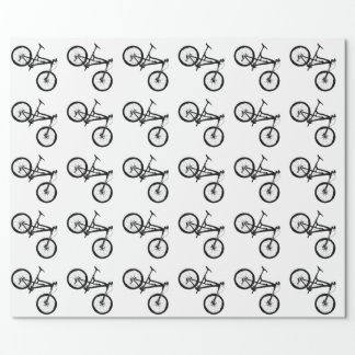 Mountain Bike - Black on White Wrapping Paper