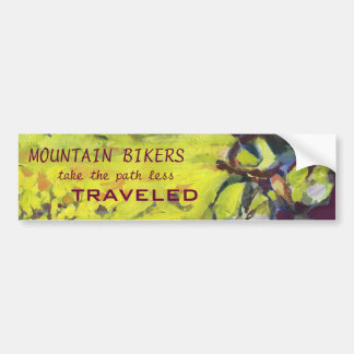 Mountain Bike Bumber Sticker Bumper Sticker