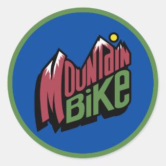 Mountain Bike Classic Round Sticker
