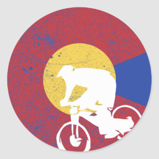Mountain Bike Colorado Classic Round Sticker