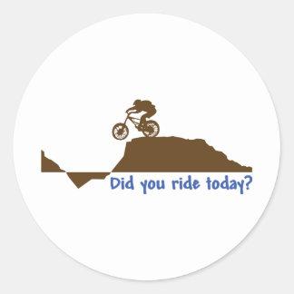 Mountain Bike - Day Ride Round Sticker
