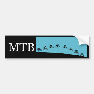 Mountain bike jump bumper sticker