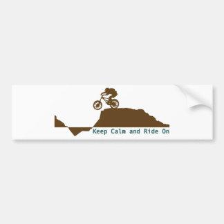 Mountain Bike - Keep Calm Bumper Sticker