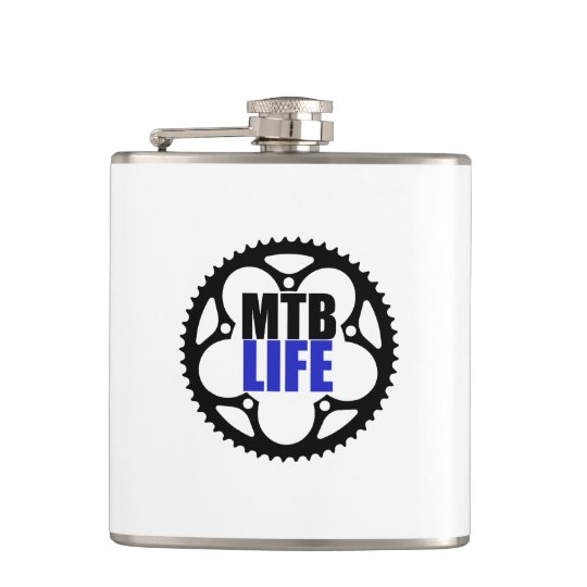 Mountain Bike Life Hip Flask