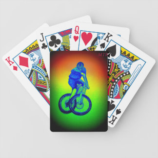 Mountain bike Llandegla mtb bmx Bicycle Playing Cards