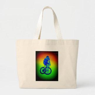 Mountain bike Llandegla mtb bmx Large Tote Bag