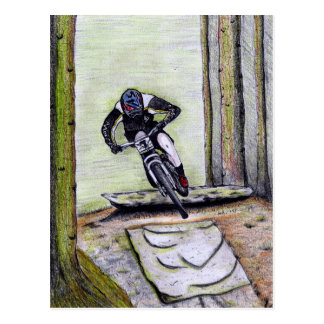 Mountain bike Llandegla mtb bmx Postcard