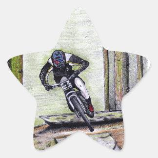 Mountain bike Llandegla mtb bmx Star Sticker