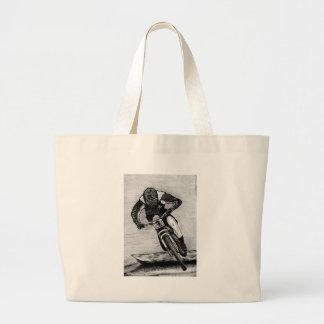 Mountain Bike Ride Large Tote Bag