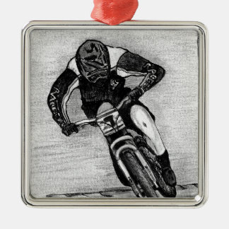 Mountain Bike Ride Metal Ornament