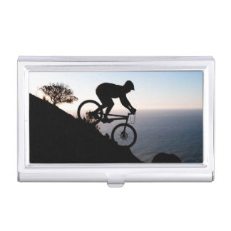 Mountain Bike Rider. Lions Head, Cape Town Business Card Case