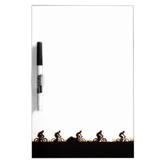 Mountain Bike Riders Make Their Way Over The Dam Dry Erase Boards