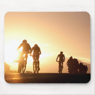 Mountain Bike Riders Make Their Way Over The Top Mouse Pad