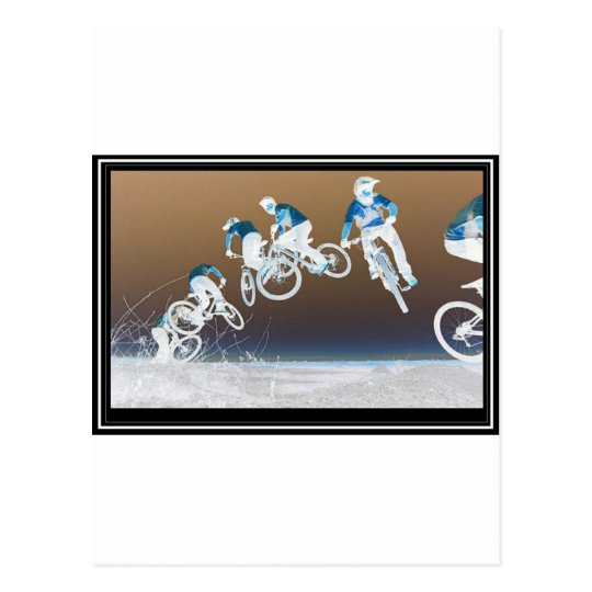Mountain Bike Sequence Postcard
