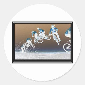 Mountain Bike Sequence Round Sticker