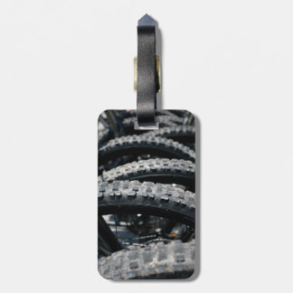 Mountain bike tires luggage tag