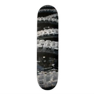 Mountain bike tires skate board deck