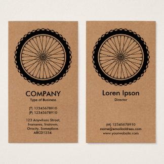 Mountain Bike Wheel - Cardboard Business Card