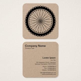 Mountain Bike Wheel Square Business Card
