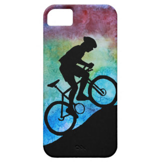Mountain Biker Against Sunset iPhone 5 Covers