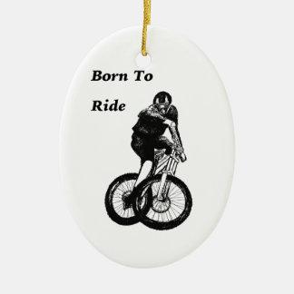 Mountain Biker MTB BMX CYCLIST Cyclo cross Ceramic Ornament