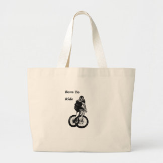 Mountain Biker MTB BMX CYCLIST Cyclo cross Large Tote Bag
