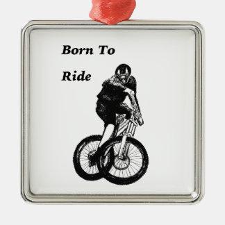 Mountain Biker MTB BMX CYCLIST Cyclo cross Metal Ornament